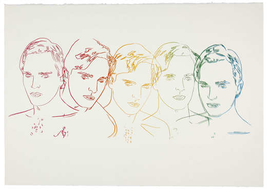 Miguel Bose (1983) by Andy Warhol