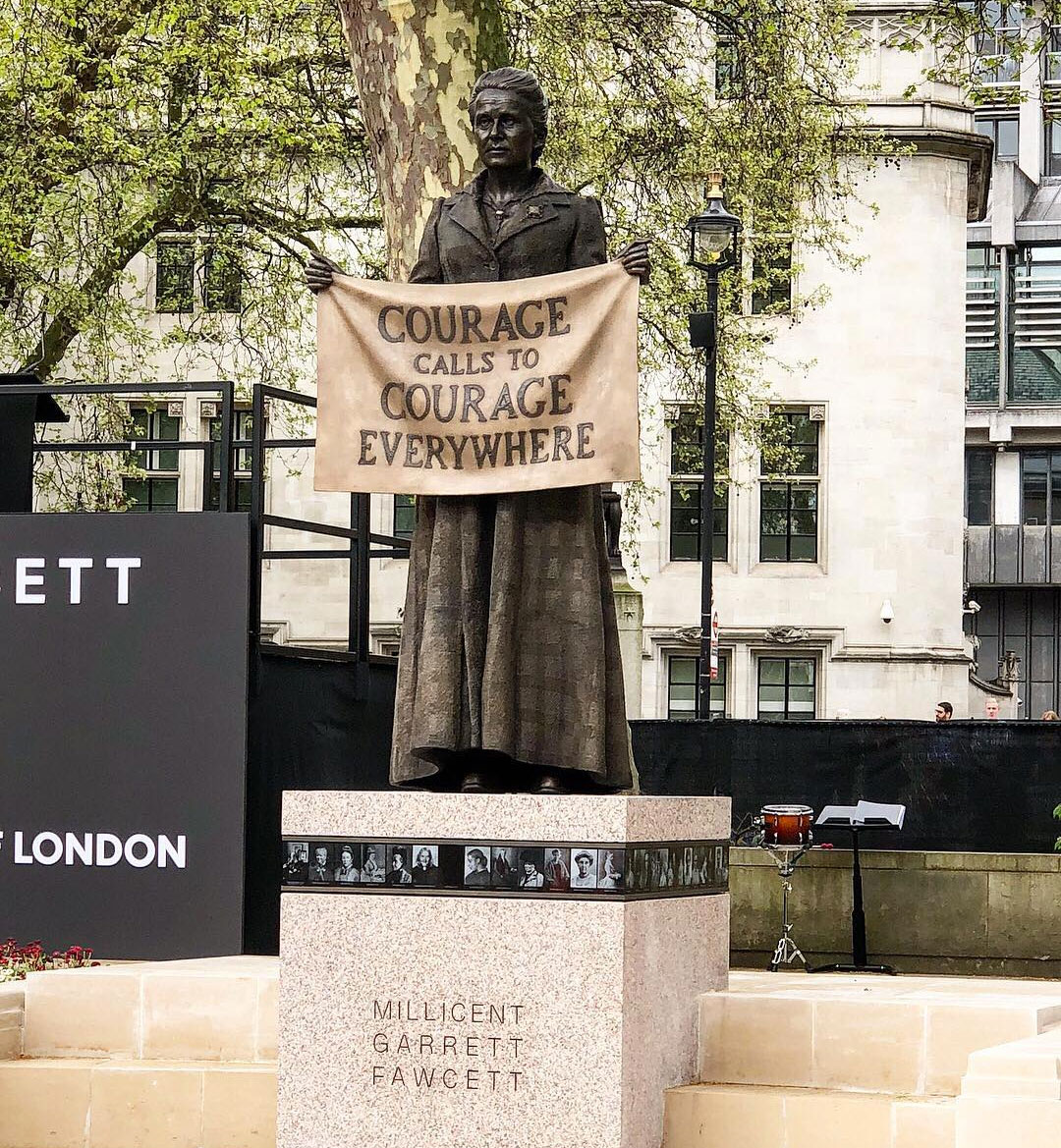 Gillian Wearing's statue of Millicent Fawcett, as unveiled in Parliament Square today. Image courtesy of the Mayor of London's Instagram