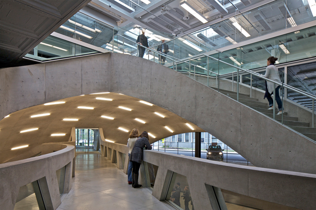 Milstein Hall at Cornell University, by the Office for Metropolitan Architecture, as featured in the Phaidon Atlas