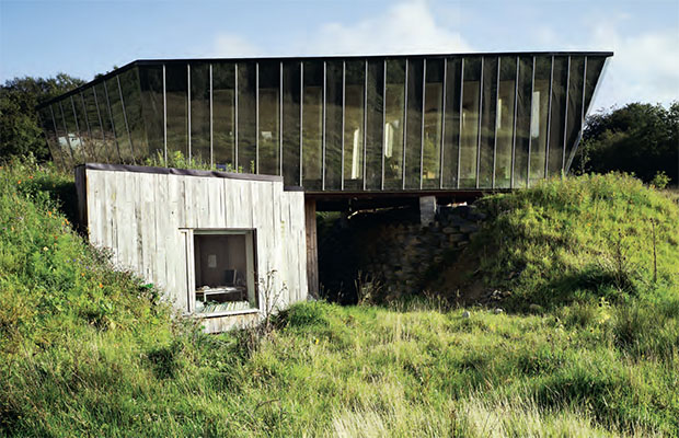 The Mimetic House by by Dominic Stevens Architects in, Dromahair, Ireland. Photograph by Ros Kavanagh. From Elemental Living
