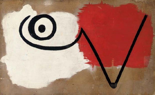 Painting for the Ballet Jeux D'Enfant (1932) by Joan Miro