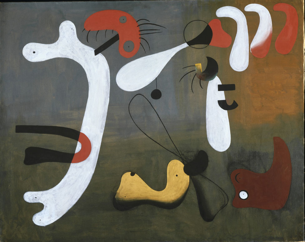 Painting, 1933, Joan Miró, Spanish, 1893?1983, Oil and aqueous medium on canvas, 51 3/8 x 64 1/4 inches (130.5 x 163.2 cm), Philadelphia Museum of Art, © Artists Rights Society (ARS), New York / ADAGP, Paris