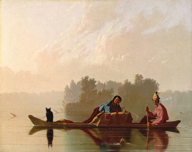 Fur Traders Descending the Missouri (1845) by George Caleb Bingham