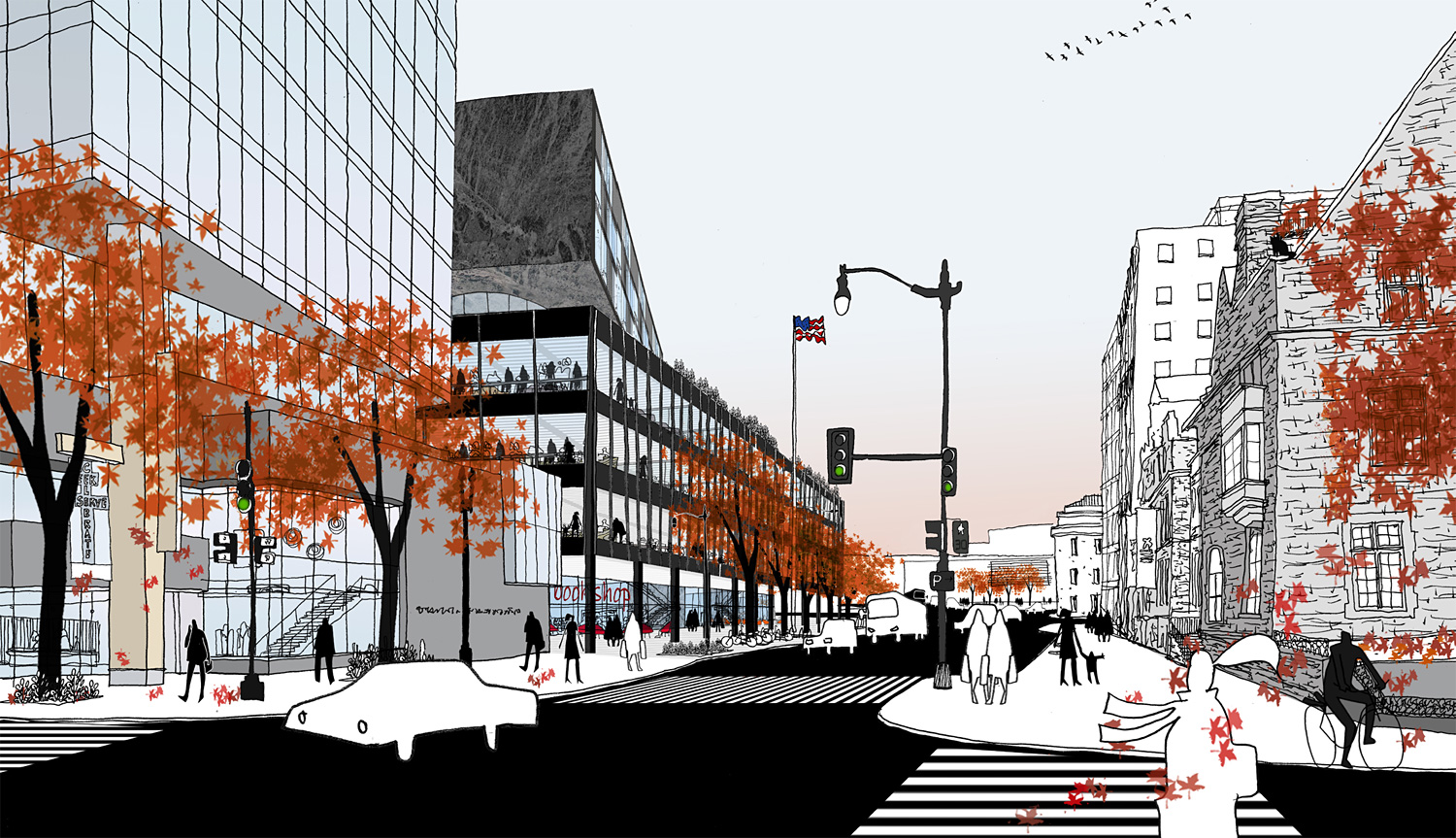 Mecanoo and Martinez + Johnson's plans for Washington DC's MLK Library