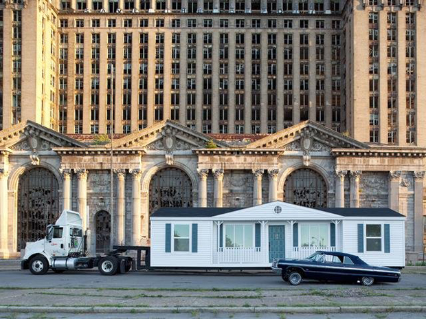 Mike Kelley Mobile Homestead, image courtesy of MoCAD and the Mike Kelley Foundation for the Arts. Photograph by Corinne Vermeulen