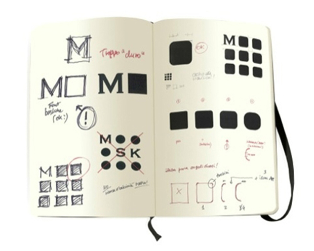New Moleskine Monogram logo - Achilli Ghizzardi Associati