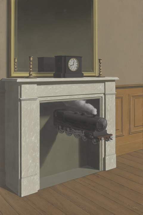 Time Transfixed by (1938) by René Magritte