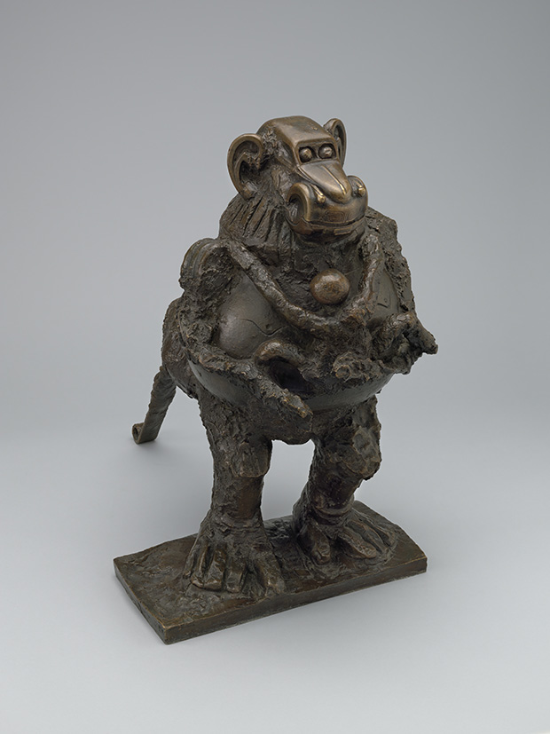 Pablo Picasso (Spanish, 1881–1973) Baboon and Young. Vallauris, October 1951 (cast 1955). Bronze. 21 x 13 1/4 x 20 3/4? (53.3 x 33.3 x 52.7 cm). The Museum of Modern Art, New York. Mrs. Simon Guggenheim Fund. © 2015 Estate of Pablo Picasso / Artists Rights Society (ARS), New York