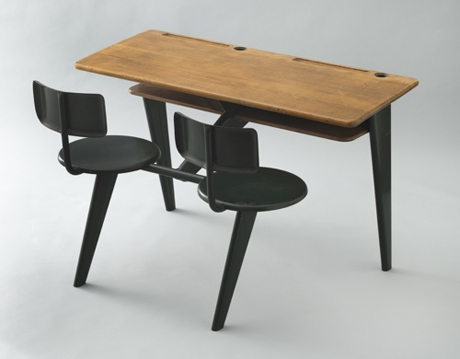 Jean Prouvé. School desk. 1946. Manufactured by Ateliers Jean Prouvé, Nancy. The Museum of Modern Art, New York. Dorothy Cullman Purchase Fund