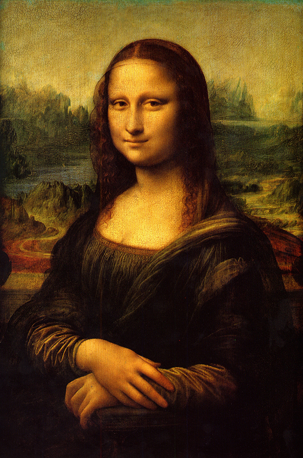 Mona Lisa (c. 1502) by Leonardo da Vinci. As reproduced in The Story of Art