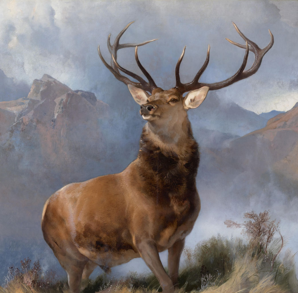 The Monarch of the Glen (c. 1851) by Sir Edwin Landseer, as reproduced in Animal