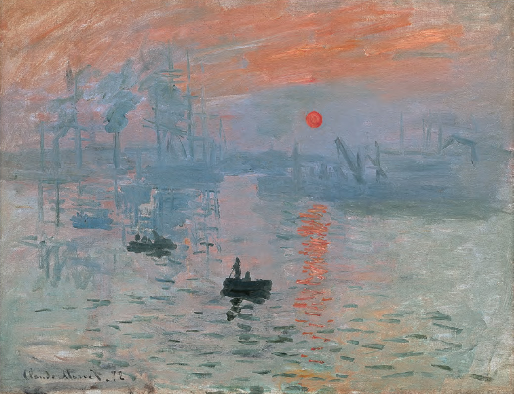 Impression, Sunrise (1872) by Claude Monet, as reproduced in The Art Museum