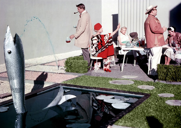 Modern life is rubbish: a still from Mon Oncle (1958), featuring Jacques Tati, as featured in the French Pavilion at this year's 2014 Venice Architecture Pavilion
