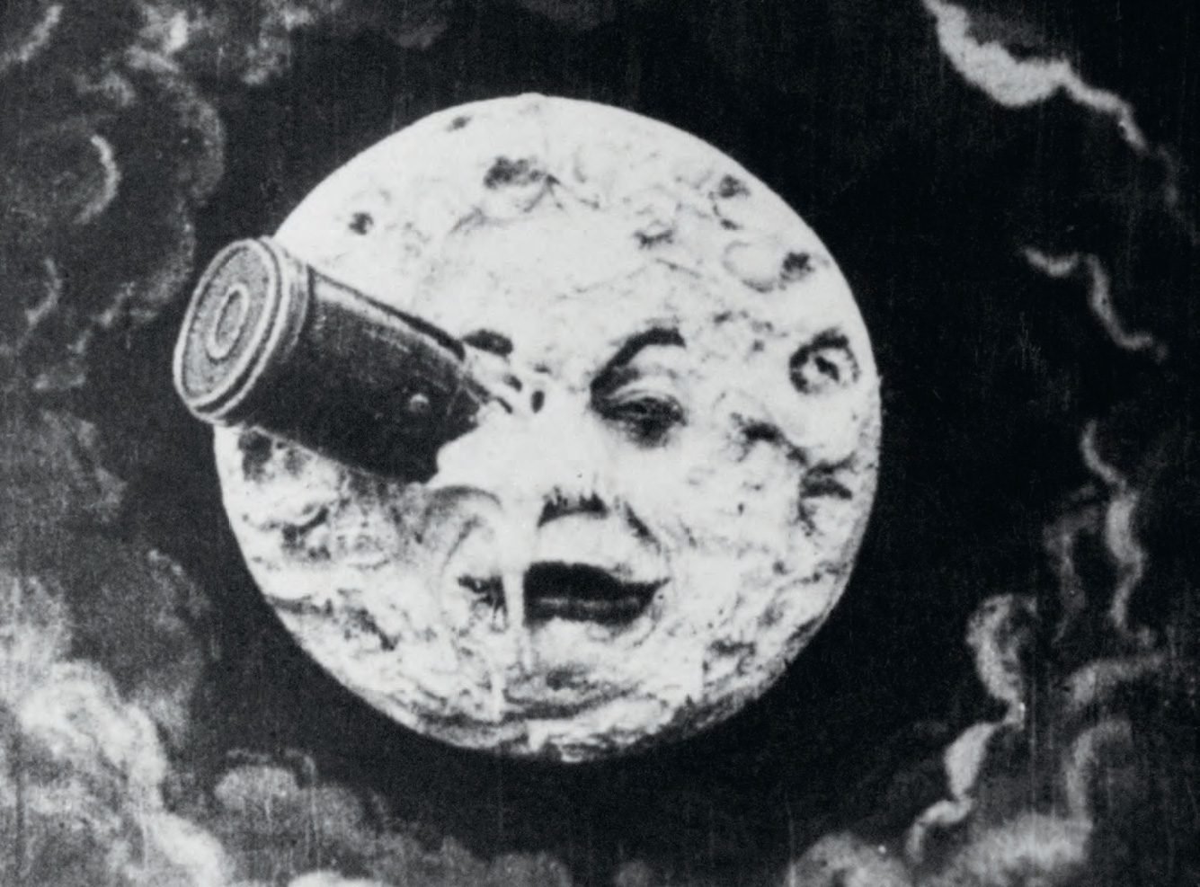 Film still from A Trip to the Moon (Le Voyage dans le lune) (1902) by Georges Méliès, as reproduced in Universe