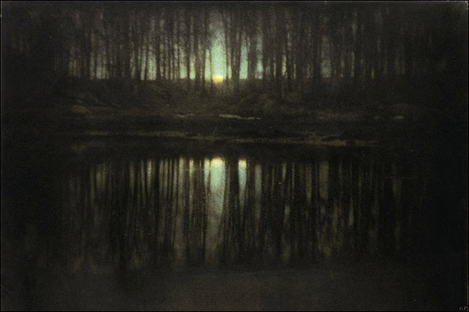 The Pond - Moonrise (1904) by Edward Steichen. As reproduced in Art in Time.
