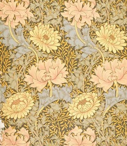 Chrysanthemum wallpaper by William Morris, late nineteenth century