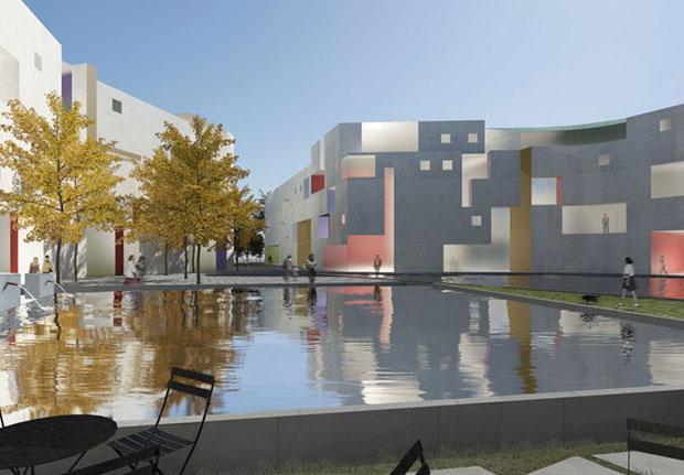 Mixed use housing - Steven Holl Architects