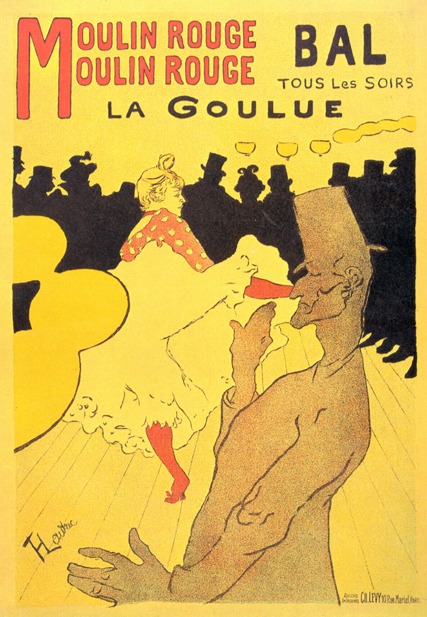 Moulin Rouge, La Goulue, (1891) by Toulouse-Lautrec
