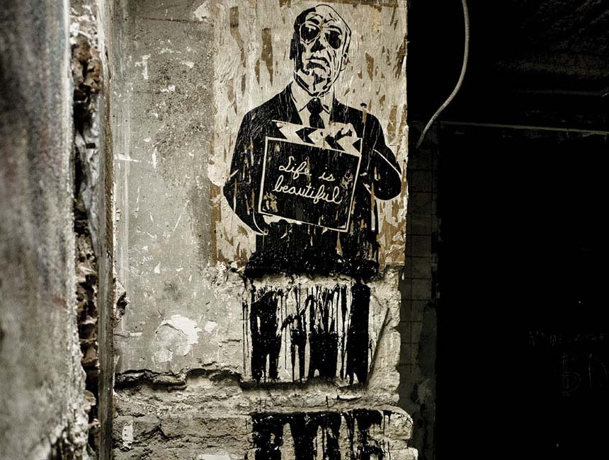 Mr. Brainwash's contribution to Les Bains street-art residency