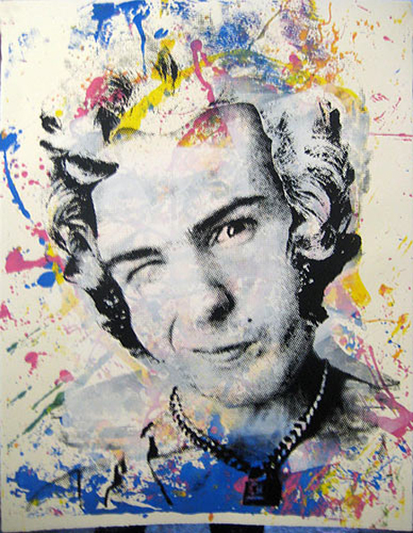 Another of Mr Brainwash's Sid Vicious pictures