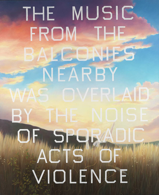 The Music from the Balconies (1984) by Ed Ruscha