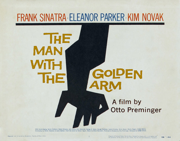 The Man With The  Golden Arm poster (1955) by Saul Bass