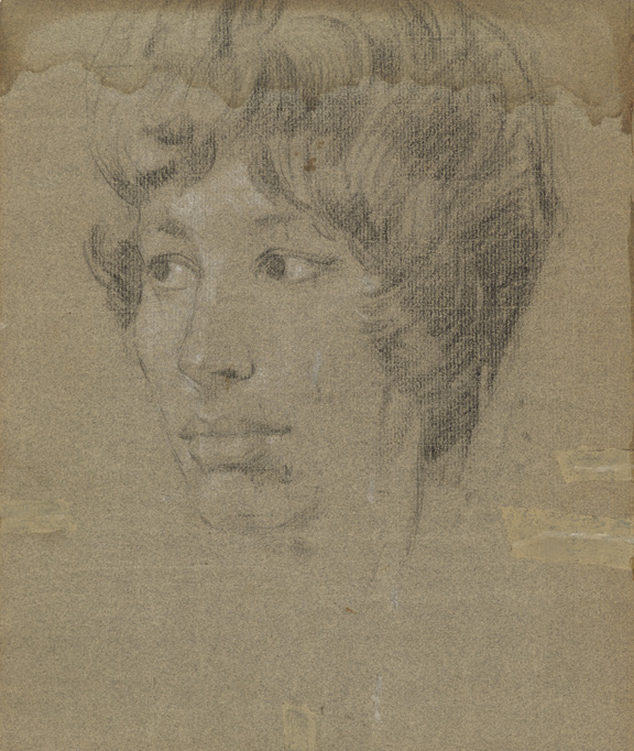 Unknown woman by Stephen Ward, pastel, c.1961 (c) National Portrait Gallery, London