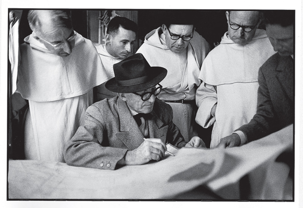 Le Corbusier working on Convent of La Tourette, Eveux-sur-Arbresle (1959) by René Burri