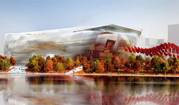 Jean Nouvel's winning design for The National Art Museum of China