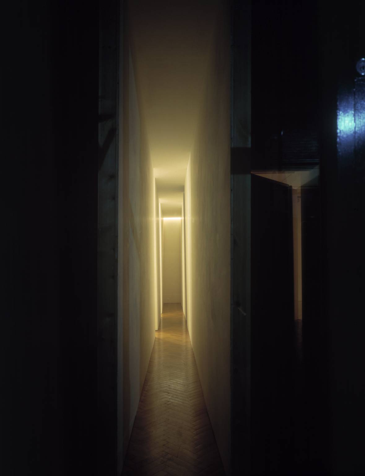 Changing Light Corridor with Rooms (1971) by Bruce Nauman