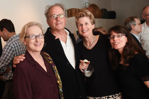 Meryl Streep, her husband Don Gummer, Laurie Fendrich and Lauren Kozol at the launch of Peter Plagens' book Bruce Nauman: The True Artist