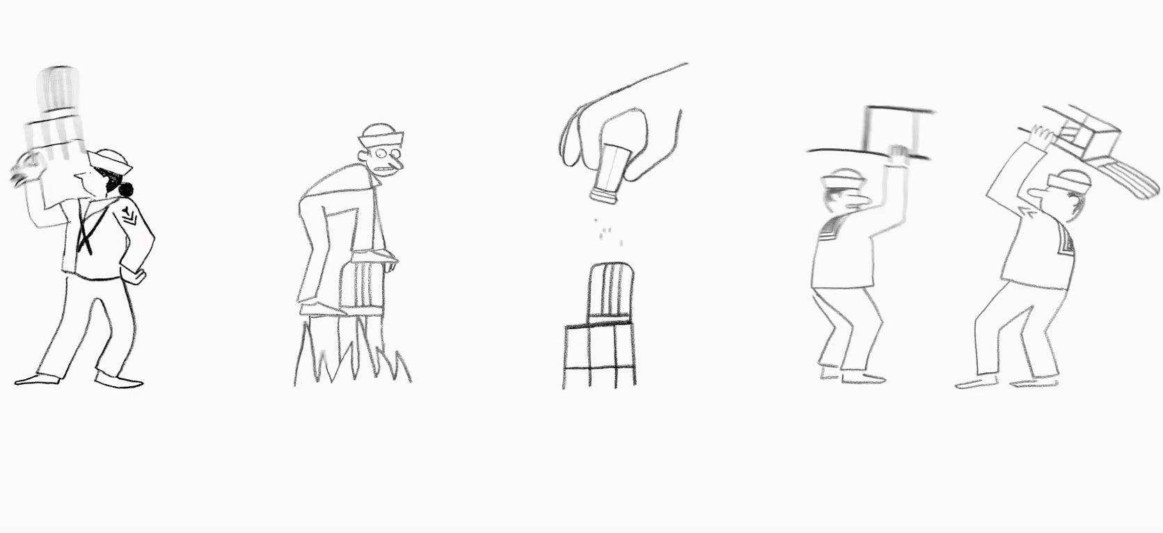 An image from the Jullien brothers' new animation for Emeco