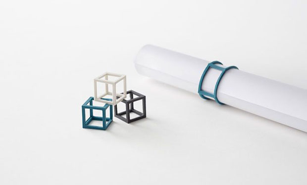 Cubic rubber band - Nendo