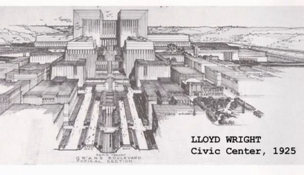 Frank Lloyd Wright's  Civic Center Plan (1925)