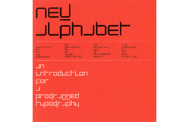 New Alphabet, Wim Crouwel, 1967