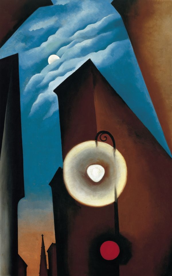 Georgia O'Keeffe, New York with Moon, 1925, as reproduced in Art in Time
