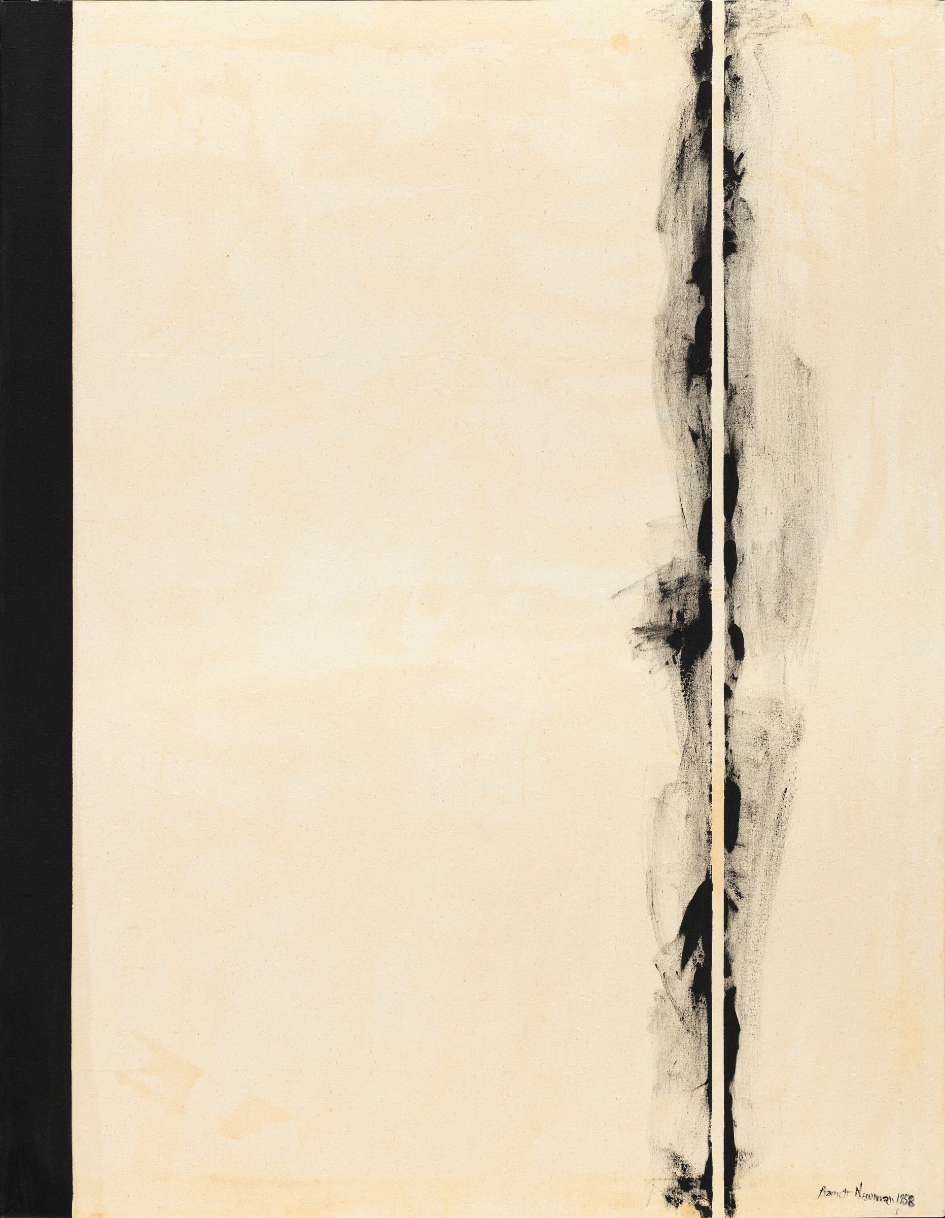 First Station (1958) (from the series Stations of the Cross, 1958-66) by Barnett Newman. As featured in our book Abstract Expressionism