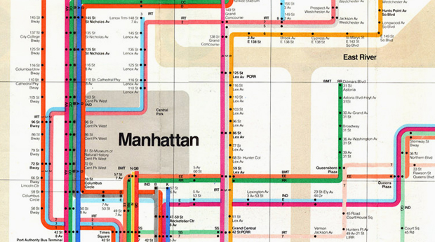 Massimo Vignelli 1972 Nyc Subway Map.Massimo Vignelli S Nyc Subway Map Is Reborn Design Agenda Phaidon