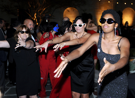 Alex Israel's 'Flash Mob' (2012) dance to Corey Hart's 'I Wear My Sunglasses at Night'