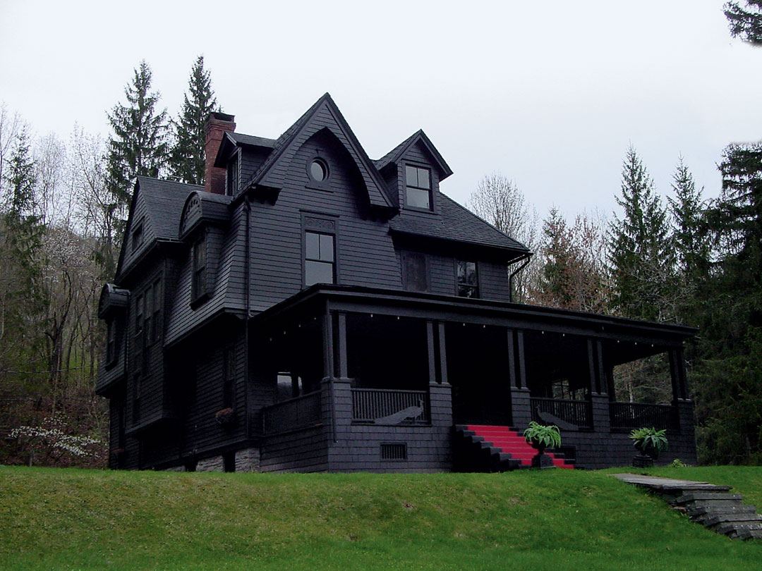 A Brilliant Black Building for Halloween!