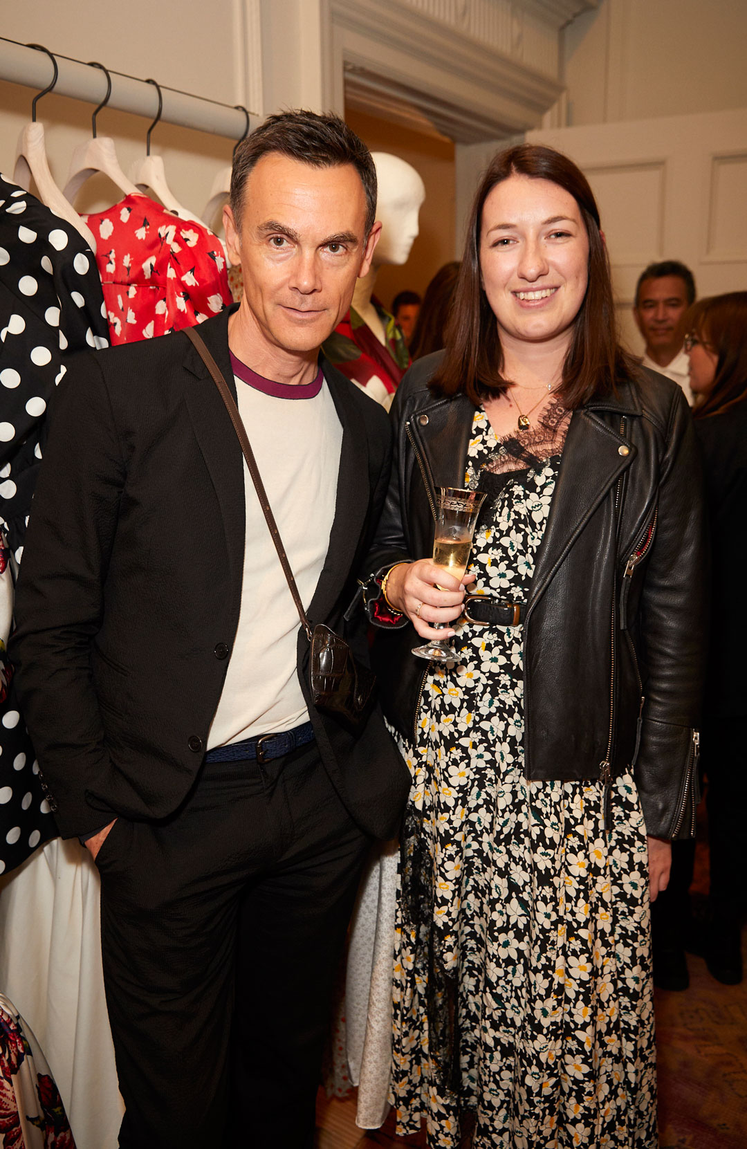 Nick Vinson and Chelsea Power at the Interiors launch at MATCHESFASHION.COM in London