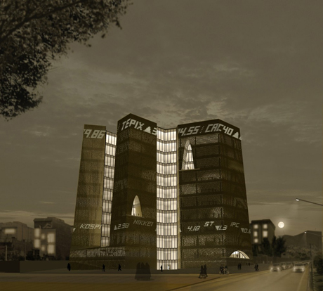 A night view of the proposed exchange