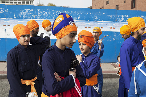 Vaisakhi, Guru Nanak Gurdwara, a Sikh temple, Smethwick, by Martin Parr. From Black Country Stories (2010 - 2014)