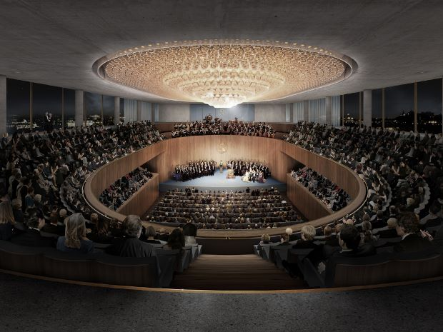 The Nobel Center's Auditorium. © David Chipperfield Architects