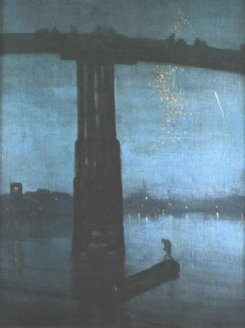 Nocturne in blue and silver: old Battersea Bridge (c. 1872-5) by James Whistler