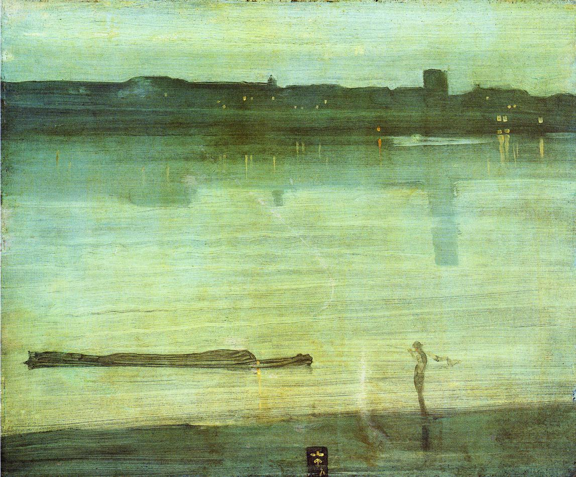 Whistler's Nocturne in Blue and Green (1871)