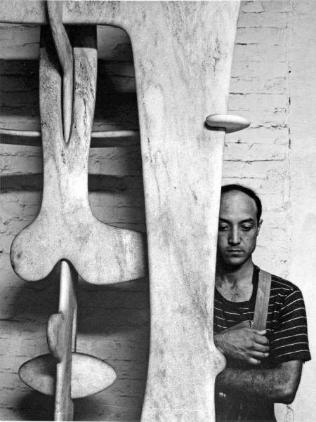 Noguchi in 1947. Photograph by Arnold Newman
