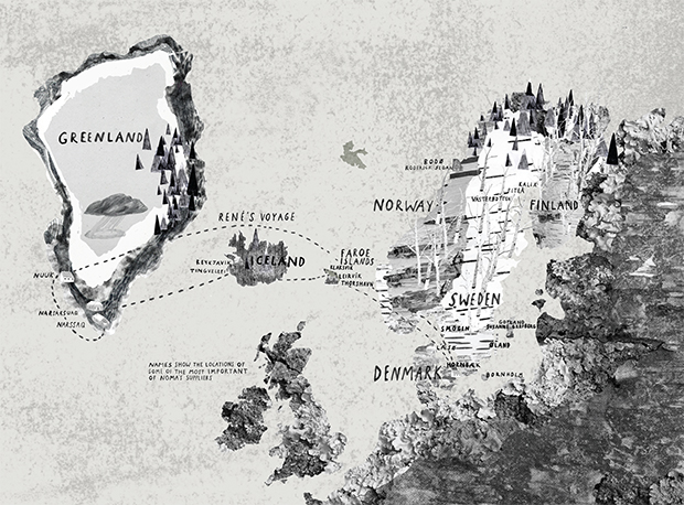 A map of the Nordic region as it appears in our book Noma