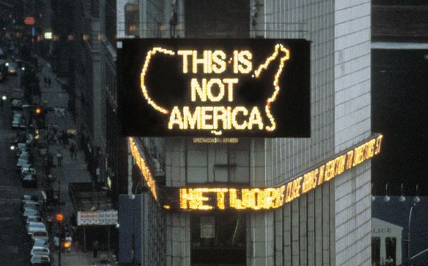 Logo For America (1987) by Alfredo Jaar
