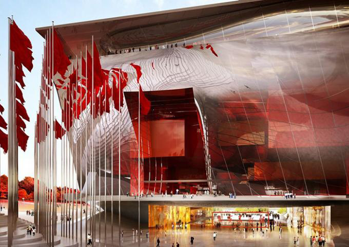 Jean Nouvel's winning designs for Jean The National Art Museum of China